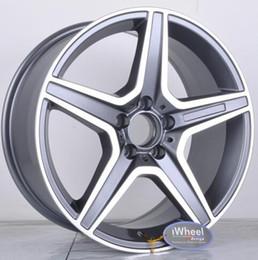 Wholesale 16 Alloy Rims - Car Replica ALLOY WHEEL 17x8 18x8.5 PCD 5x112 CB66.56 ET35 Gunmetal MF Rim Mag wheel for Germany Vehicles M*B* series
