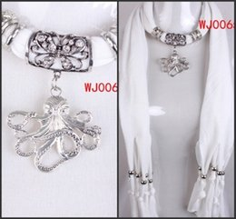 Wholesale Real Octopus - WishCart Real New Arrival Solid Adult Retail Scarves Red scarf Jewelry For Octopus Pendant 2016 Charming Necklace Wraps