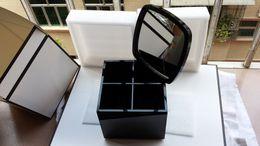 Wholesale Makeup Storage Holders - Luxury C Cosmetic Holder Acrylic Makeup Box Big Makeup Tools Make-up Brush Desktop Storage Box With Gift Box for Wedding Gift
