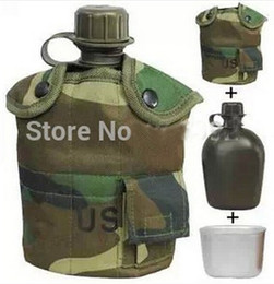 Wholesale Tactical Kettle - Tactical US Army Three-Piece Suit Sports Keep Warm Water Bottle Kettle for Outdoor Camping Mountaineering Hiking Climbing