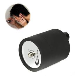 Wholesale Spy Ear Listening Device Wholesale - New Arrival Wall Audio Bug Listening Device on Wall Ear Amplifier Spy Bug Monitor Wall Door Eavesdropping Black