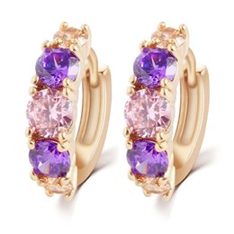 Wholesale Dangle Nail Jewelry - 2015 New Characeter Earrings Bright Color Crystal Zircon Earrings Nail Pendant Clip Jewelry