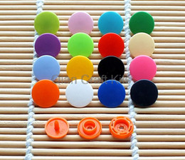 Wholesale Wholesale Clothing Snaps - 800 Sets T5 12MM Plastic Resin Snaps fastener For Crafts, Baby, Clothes, Bibs, Diapers and Scarves mixed or pick color