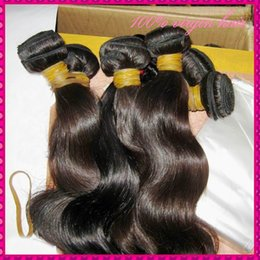Wholesale Ladies Inch - Sexy Girl Natural Shiny Raw Cambodian Virgin Body Wave Hair 3 Bundles(300g) No Chemical Process BEST 8A World Charming Lady