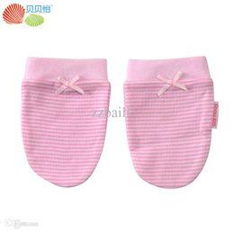 Wholesale Organic Cotton Gloves - Wholesale-Baby Supplies Armfuls Newborn Organic Cotton Glove Infant Anti Grasping Gloves Baby Mittens Baby Care Luvas para bebe Free Ship