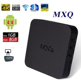 Wholesale Original Media Player - Original MX MXQ IPTV TV BOX Amlogic S805 Quad Core Android 4.4 4K Video TV Channals Media Player Google Play Store Rooted