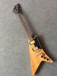 Wholesale Wooden Model Guitar - New Arrival Wholesale Cibson moderne model 1960s Electric Guitar gold hardware top quality in normal wooden 151105-1218
