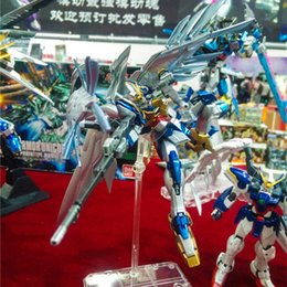 Wholesale Bandai Gundam 144 - Manual Plating color series BANDAI MG-028 Wing Gundam Zero 1 144 model 13 CM Robot Puzzle assembled boy toys Anime child gifts