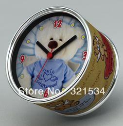 Wholesale Teddy Bear Clocks - Free Shipping 4pcs Lot Dein Schutzehgel Angel Plush Bear Toy Gifts, Teddy Bear Design Quartz Table Clocks Or Wall Clocks