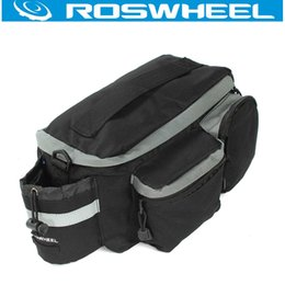 Wholesale Bike Bag Saddle Large - Roswheel Bicycle Saddle Bag Cycling Bike Back Seat Bags Black Mutifunctional Large Capacity Outdoor Handbag Pack Mountain Pouch