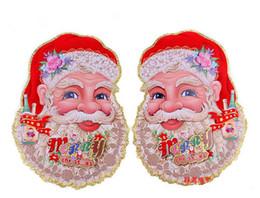 Wholesale Decoration L Painting - Christmas Outdoor Decoration Santa Claus Sticker Christmas Decoration 10pairs lot Painting Christmas Ornaments Enfeites De Natal