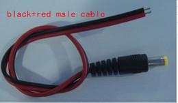Canada DHL livraison gratuite 30 cm 12 V DC adaptateur secteur mâle femelle câble 5.5 X 2.1 mm CCTV caméra alimentation connecteur fil DC cordon de ligne mâle Offre