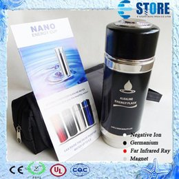 Wholesale Alkaline Water Flasks - New Arrival Design 420ML Stainless Steel Water Cup Alkaline Water Energy Nano Flask Nano Energy Cup Free Drop Shipping