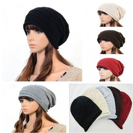 Wholesale Swag Beanie Caps - Wholesale-2015 YUXI Winter Hats For Women Men Knitted Caps Cotton Hip Hop Ring Warm Beanies Gorros Ringed Knitted Caps Knitted Hats Swag