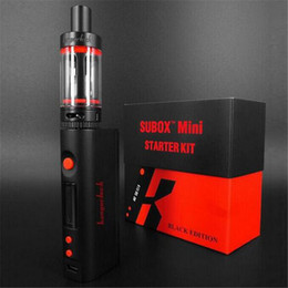 Wholesale Electronic Cigarette Boxed Starter Kits - Starter Kit E Cigarette Kbox Kanger Subox Mini Mini 50W Variable Wattage Box Mod With Subtank Mini Sub Ohm electronic cigarette