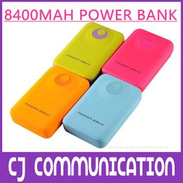Wholesale Carregador Iphone Portatil - Wholesale-carregador portatil 8400 mah 8400mAh Mobile Phone Backup Batery Charger External Power Suppliers Bank for iphone 5s Samsung