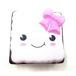Wholesale Big Cake Boxes - 5Pcs Cute Original Emoji Face Box Cake Squishy Super Slow Rising Cartoon Jumbo Doll Straps Soft Cream Scented Bread Fun Toy Gift