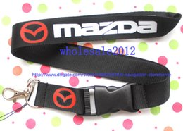 Wholesale Mazda Ids - Wholesale 10pcs car Mazda Lanyard for MP3 4 cell phone key chain Team neck lanyard ID Holder Free shipping