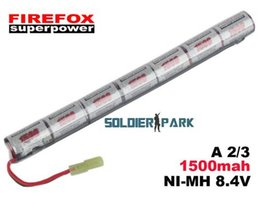 Wholesale Airsoft Electric Rifle - Professional Firefox 8.4V 1500mAh Stick Ni-MH Battery for AK Airsoft Electric Rifle AEG Rechargeable Battery Pack Free Shipping order<$18no