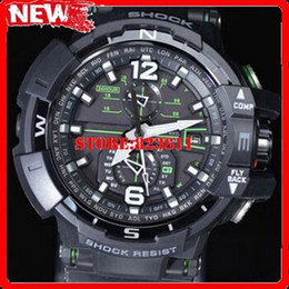 Wholesale Divers Rubber - Wholesale-The U.S. version GW-A1100FC-1A Mens Luxury Brand Sports Diver Digital watch 46MM Rubber case Resin strap 200M Waterproof Watch