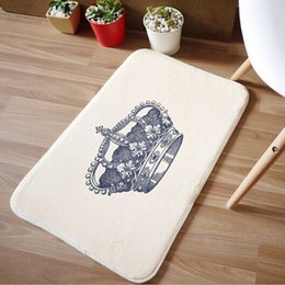 Wholesale Multifunction A3 - Newest carpet creator crown Korean style coral velvet suede multifunction welcome front door floor mats home textile products A3*