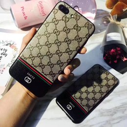 Wholesale Plastic Siding - Luxury Brand Print Phone Case for iphone X 7 7 plus 8 8 plus TPU Soft Sides Hard Backshell for iphone 6 6S 6 plus