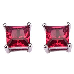 Wholesale Earring Ruby - New Arrival Ruby Women Earrings 925 Sterling Silver Free Shipping Newest Fashion Jewelry Earrings PE42