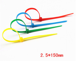 Wholesale Binding Strips - Colored cable ties binding wire with multicolored nylon cable ties cable tie 2.5 * 150mm   100 strip pack of