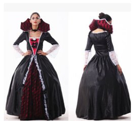 Wholesale Devil Queen Costume - New arrival Hot selling Womens Sexy Halloween Party Vampire Costumes Outfit Fancy Devil Queen Cosplay Dresses woman clothing