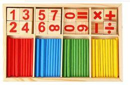 Wholesale Wholesale Preschool - 10pcs  Educational Digital Symbols Mathematical Intelligence Stick Preschool Wooden Children Toys