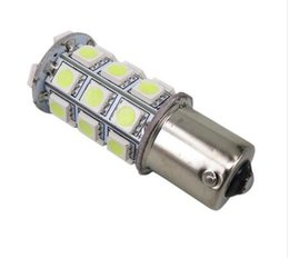Wholesale Red Reverse Lights - 10PCS 1156 1157 27SMD 5050 Backup Super White RV Camper Trailer LED 1156 1141 1003 Interior Light Bulbs