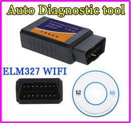 Wholesale Diagnostic Iphone - Mini ELM 327 ELM327 WIFI OBD 2 OBD2 OBDII Protocols Auto Car Diagnostic Interface Scanner tool code reader For Android iPhone IPAD