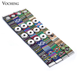 Wholesale Jewelry Ribbon Charms - VOCHENG NOOSA Bracelet Ginger Snap Jewelry 18mm Button Charm Ribbon Custom Snap Button Jewelry NN-277