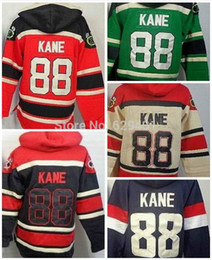 Wholesale Cheap Sweatshirts Free Shipping - Cheap New Patrick Kane Hoodie #88 Ice Hockey Jerseys Chicago Old Time Hooded Sweatshirt Free Shipping