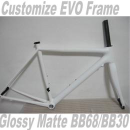 Wholesale Super Evo - customized All White Hot Sale Super Six EVO Bicyle Carbon Frame Wholesale Super Light Carbon Road Bicycle Frame