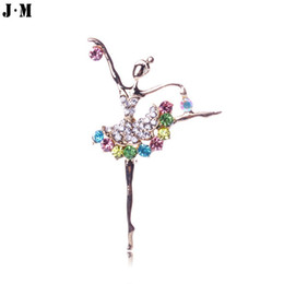 rhinestone brooches for sale Promo Codes - Wholesale-1pcs for sale 2015 New High-grade clear full crystal brooches designer rhinestone fairy girl brooch pins,broches jewelry fashion
