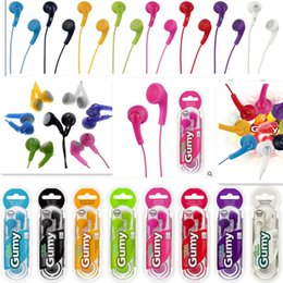 Wholesale Earphones For Iphone Remote - Gumy HA F150 Earphones Gummy Earphone Cell Phone Earphones Headphone Headphones Earbuds 3.5mm Without Mic & Remote For iPhone Samsung