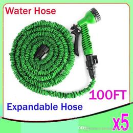 Wholesale Sg Water - 100 FT Blue color Expandable Garden Hose and spray nozzle Flexible Water Hose 5pcs ZY-SG-01