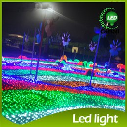 Wholesale 8m Light Curtain - 8m*10m LED String lights LED-net Lights with Controller 220V 110V LED Curtain Lights Christmas Light LED Net Light LED String Wedding Lights