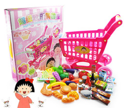 Wholesale Small Supermarkets - Wholesale-Toy supermarket shopping cart small cart toy