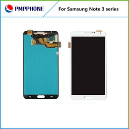 Wholesale Galaxy Note Lcd Panel - For Samsung Galaxy Note 3 N9000 N9005 Grey and white Touch LCD Screen Digitizer Replacement with fast DHL shipping