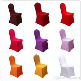 Wholesale cheap spandex chair covers wholesale - Top Selling high quality cheap wedding white lycra spandex elastic chair cover, free shipping, great service