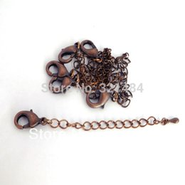 Wholesale Extender Tip - Hot sale Antique copper 1000pcs Necklace End Connector Link Extender Chain 12mm Lobster clasp Tear Drop Tip Jewelry Findings