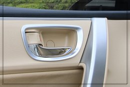 Wholesale Toyota Chrome Door Handles - High quality ABS chrome 4pcs car internal door handle trim frame for Toyota Corolla 2014-2017