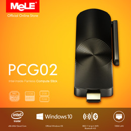 Wholesale Mini Intel - Compute Stick with LAN MeLE PCG02 Quad Core Mini PC Genuine Windows 10 Z3735F 2G DDR3 32G eMMC HDMI WiFi BT
