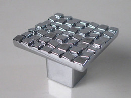 Wholesale Shiny Mosaic - Dresser Pull Drawer Pulls Handles Knobs Shiny Silver Mosaic Metal Square   Kitchen Cabinet Knob Handle Pull Furniture Hardware