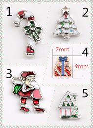 Wholesale Wholesale Craft Cross Charms - Cross Diy Animal Charms 5pcs Christmas Santa Claus Mix Metal Charms Pendants DIY Jewellery Making Crafts Christmas Charms Lot