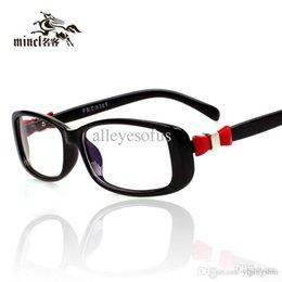 Wholesale Gimmax Fashion - Gimmax women's bow glasses myopia frame fashion eyeglasses plain mirror decoration