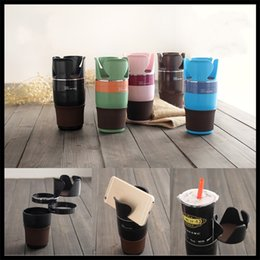 Wholesale Sunglasses Mobile - Multi Function Cup Holder Rotatable Car Accessories Sunglasses Mobile Phone Drink Holders Cars Storage Articles Multicolor Optional 15fx C R