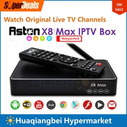 Wholesale Astro Box - Aston X8 Black Plus Android IPTV Box Malaysia Pack Watch 160+ Astro Live TV Euro Football Games Indian Channels Replace Starhub